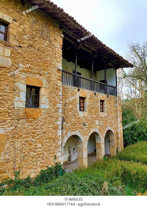 Palacio de la Ferrería (XIV century) in Fuensanta, Nava, Asturias, Spain