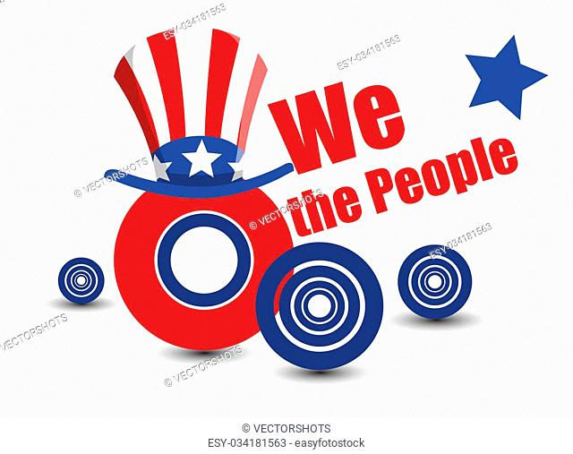 Drawing Art of We the People Vector Design Graphics