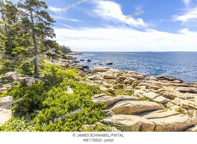 Schoodic Peninsula on the Atlantic Ocean in Acadia National Park on the coast of Maine in the United States