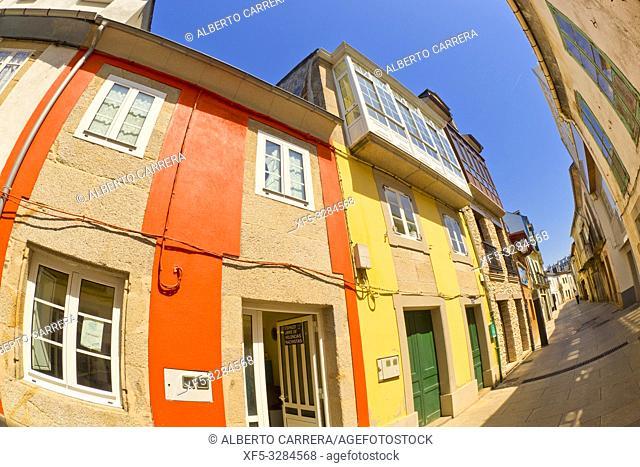 Street Scene, Tipycal Architecture, Vilalba, Lugo, Galicia, Spain, Europe