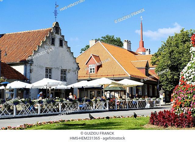 Estonia Baltic States, Saaremaa Island, Kuressaare Village, Keskvaljak central Square