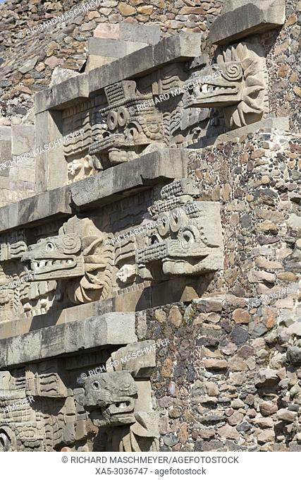 Temple of the Feathered Serpent (Quetzalcoatl), Teotihuacan Archaeological Zone, State of Mexico, Mexico