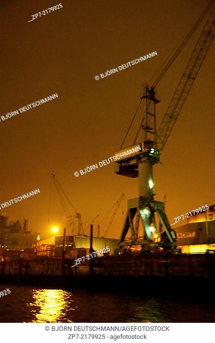 A shipyard at Hamburg