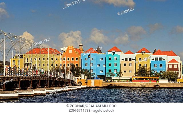 Colourful Buildings Curacao Dutch West Indies