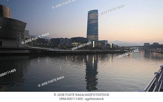 Spain , Vasc Country , Bilbao City , Guggenheim Museum Frank Gehry architect