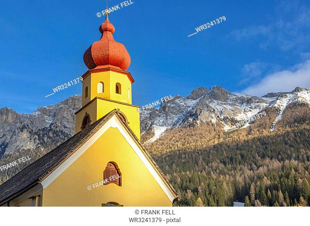 Church of St. Peter and Paul in Soraga, Italy, Europe