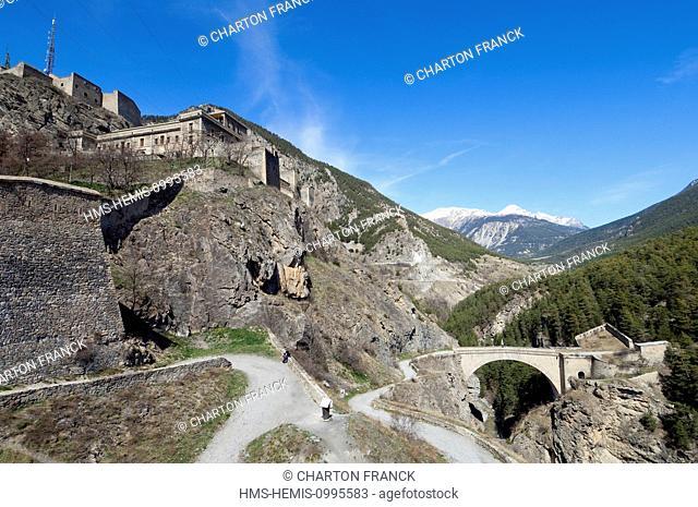 France, Hautes Alpes, Briancon, Vauban site and Asfeld bridge, listed as World Heritage by UNESCO