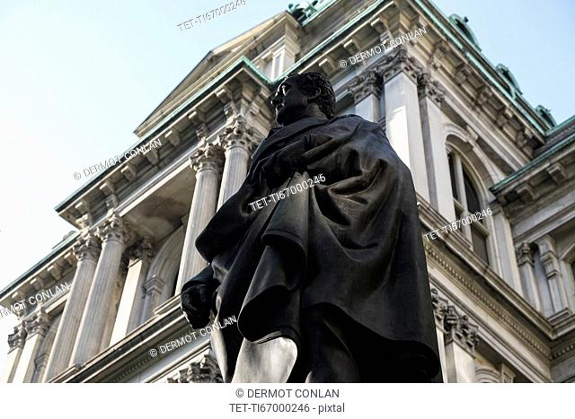 Statue of Josiah Quincy at City Hall