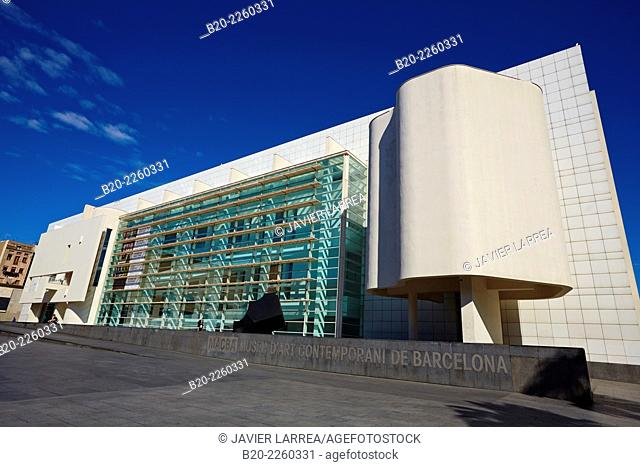MACBA. Museum of Contemporary Art. by Richard Meier. Barcelona. Catalonia. Spain
