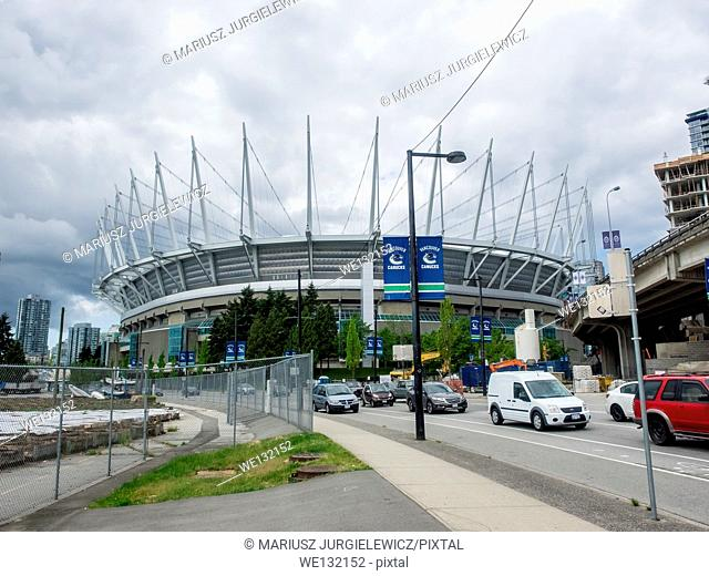BC Place is a multi-purpose stadium located at the north side of False Creek, in Vancouver, British Columbia, Canada