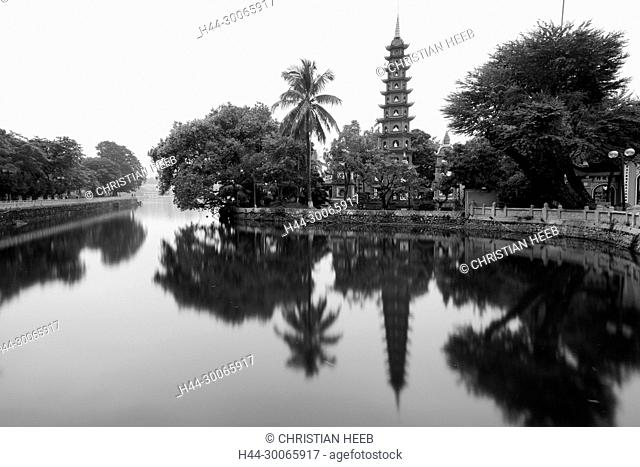 Asia, Asian, Southeast Asia, Vietnam, Northern, Hanoi, west Lake, Tran Quoc Pagoda