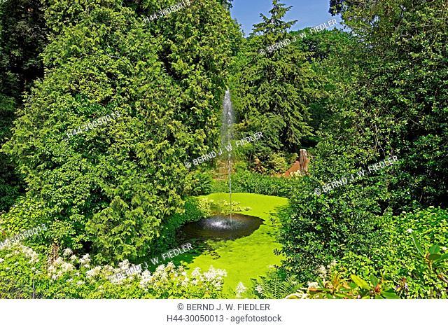 Park, fountain, Gleisweiler Germany
