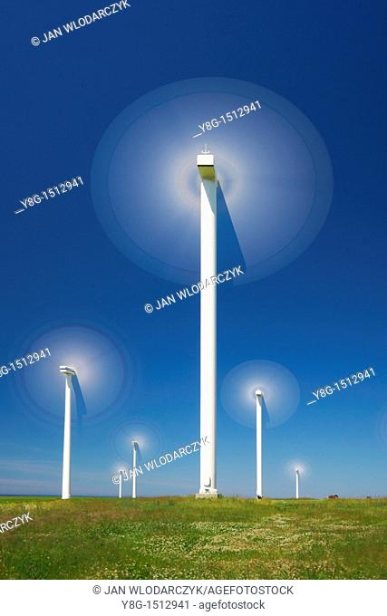 Wind turbine, wind farm, Pomerania, Poland, Europe