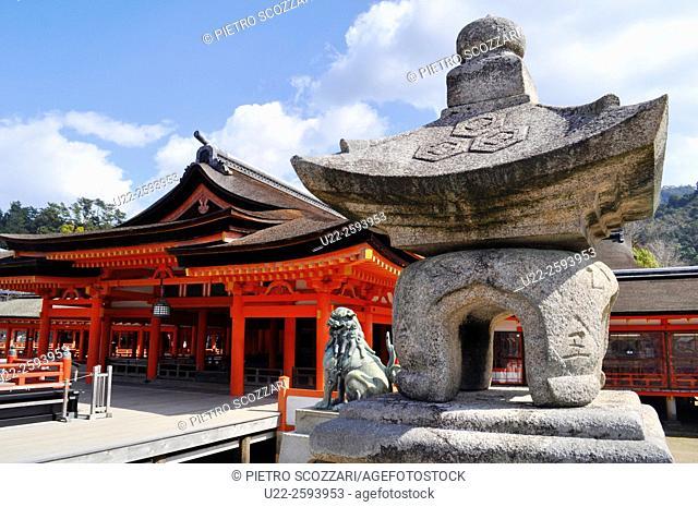Japan, Miyajima, the Itsukushima shrine...