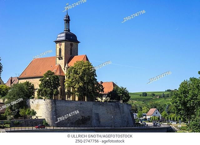 View of Regiswindis Church in the smalltown of Lauffen, Baden-Wurttemberg, Germany