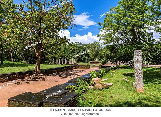 Entrance of Mahasena Palace (Pancavasa), Ahbayagiri Monastery, Sacred City of Anuradhapura, North Central Province, Sri Lanka, Asia