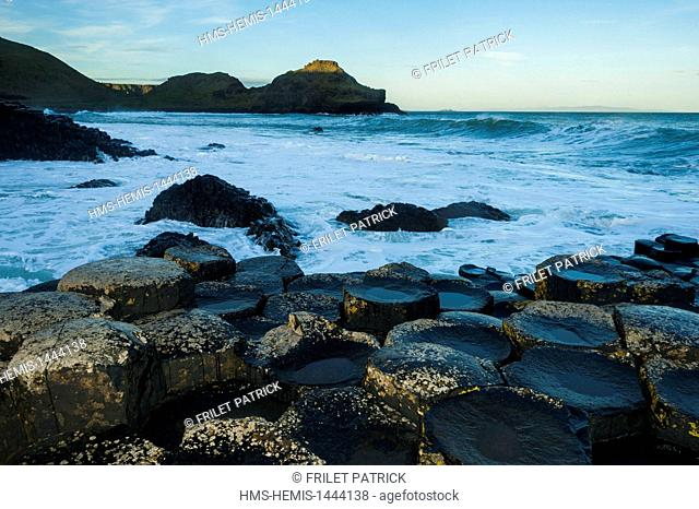 United Kingdom, Northern Ireland, County Antrim, Giant's Causeway, listed as World Heritage by UNESCO