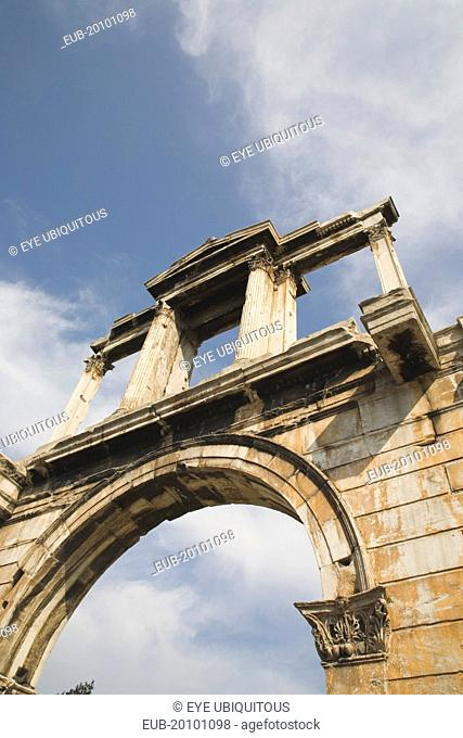 Hadrians Arch at the entrance to the Temple of Olympian Zeus