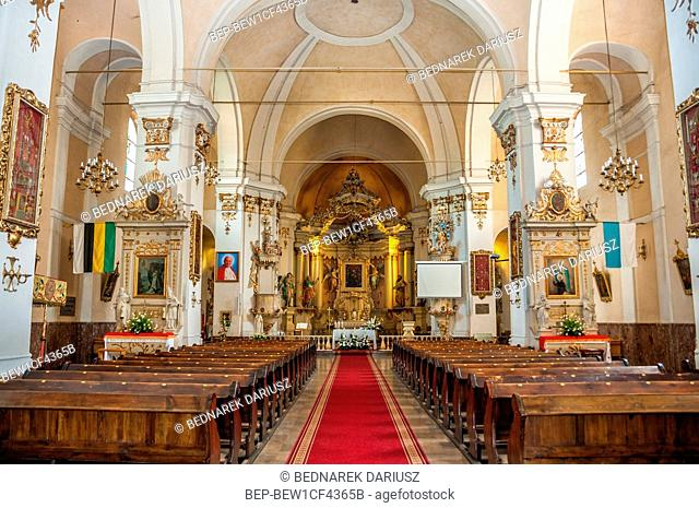 Church and monastery in Biechowo, village in Greater Poland Voivodeship
