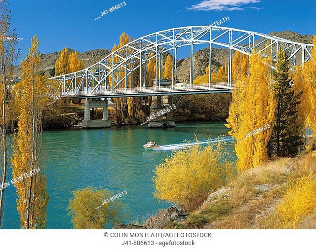 Bridge over Clutha River at Alexandra Central Otago New Zealand