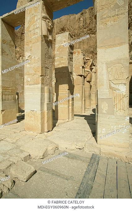Hatshepsut temple - Ruins of the Hathor Chapel