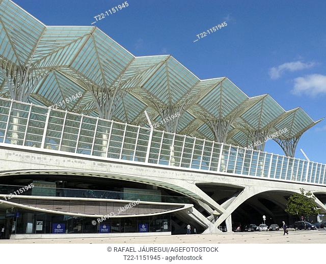 Lisbon Portugal East Station of the architect Santiago Calatrava in the city of Lisbon