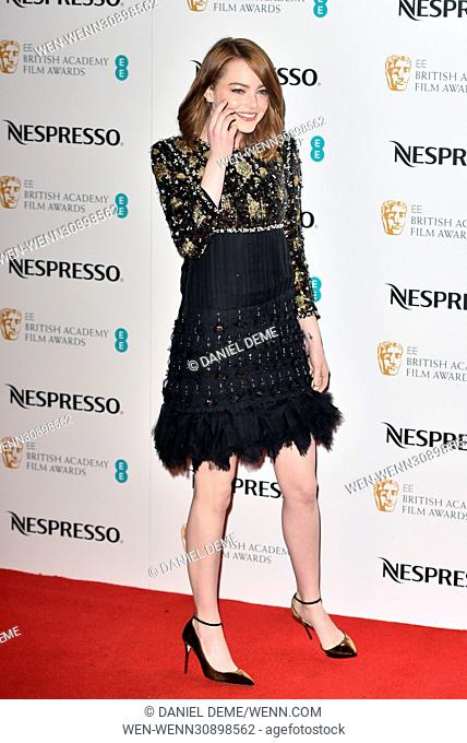 BAFTA Nespresso Nominees' Party held at Kensington Palace - Arrivals Featuring: Emma Stone Where: London, United Kingdom When: 11 Feb 2017 Credit: Daniel...