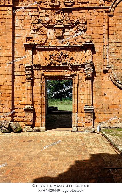 Church building in La Santisima Trinidad de Paraná - Jesuit ruins, Trinidad, Paraguay