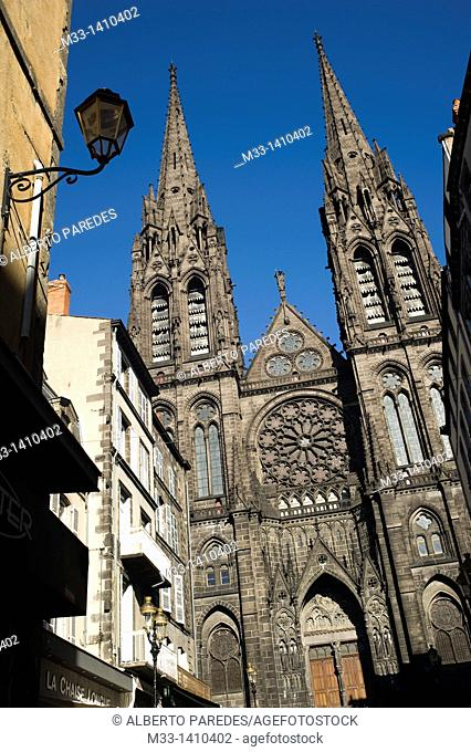 Notre Dame de L'Assomption Cathedral in Clermont-Ferrand  Auvergne region, France