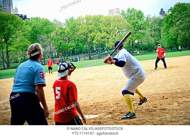 Baseball Match in Central Park