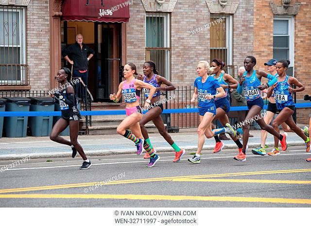 TCS New York City Marathon 2017 - Runners making their way through Queens Featuring: Shalane Flanagan, Mary Keitany, Eva Vrabcova, Kellyn Taylor, Sara Dossena