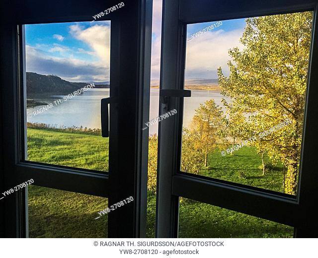 Gistihusid Lake Hotel Egilsstadir in the autumn, Eastern Iceland