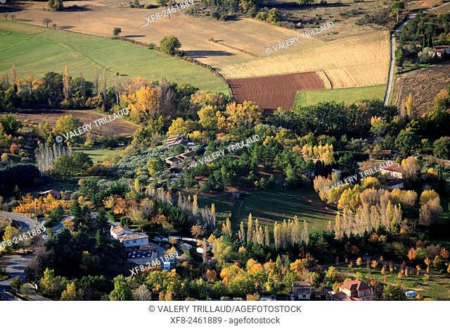 Landscape around Moustiers Sainte Marie, Verdon regional park, Alpes de Haute Provence, Provence, France