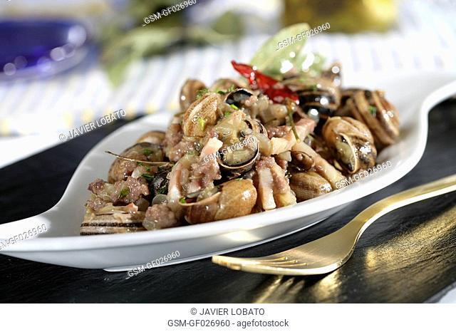 Snails stew with butifarra Catalonian sausage