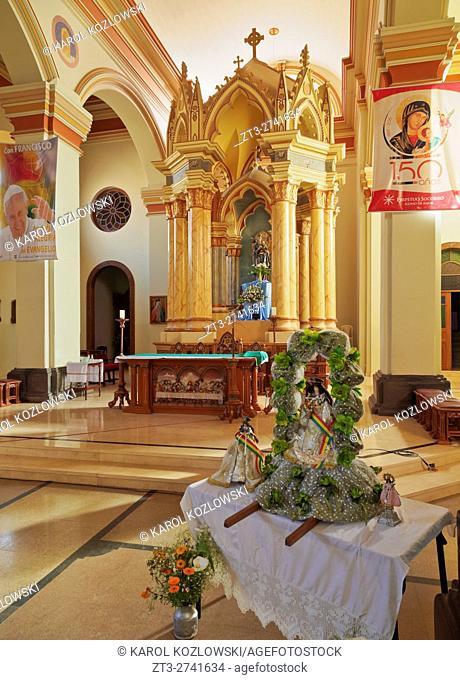 Bolivia, Potosi Department, Sud Chichas Province, Tupiza, Interior view of the Nuestra Senora de la Candelaria Cathedral
