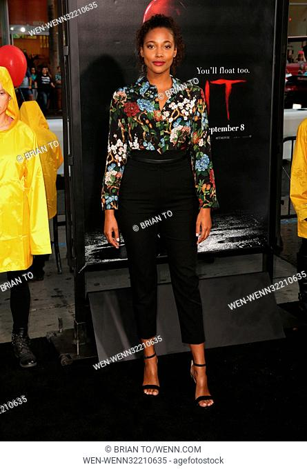 """Celebrities attend World Premiere of """"""""IT"""""""" at TCL Chinese Theater. Featuring: Kylie Bunbury Where: Los Angeles, California"""