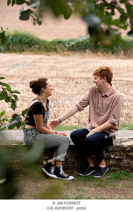 Couple enjoying countryside