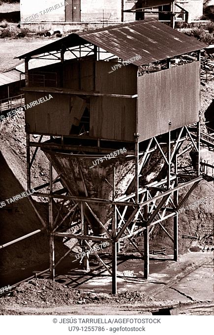 Former plant coal mining  Ponferrada  Leon  Spain  Europe  1997