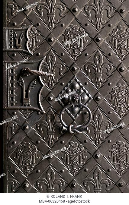 Poland, Wroclaw, Breslau, Wroclaw Cathedral / St. John the Baptist Cathedral (Archikatedra ?w. Jana Chrzciciela), Door fittings