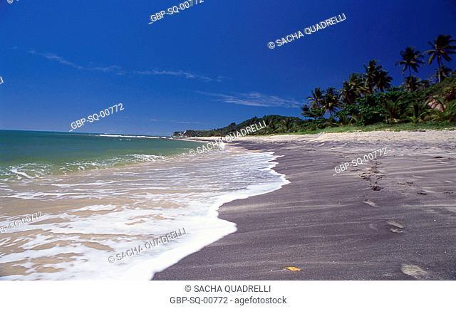 black sand beach, Caraíva, Bahia - Brazil