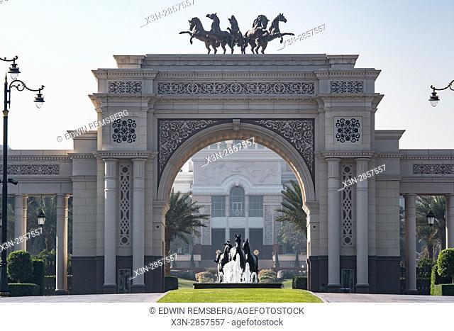 United Arab Emirates - Horse themed decorative archway in Dubai