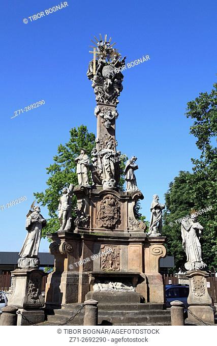Hungary, Vác, Vac, Trinity Column,