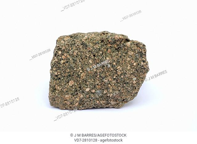 Rhyolite is an extrusive or volcanic rock. This sample comes from Sierra de Albarracin, Teruel, Aragon, Spain