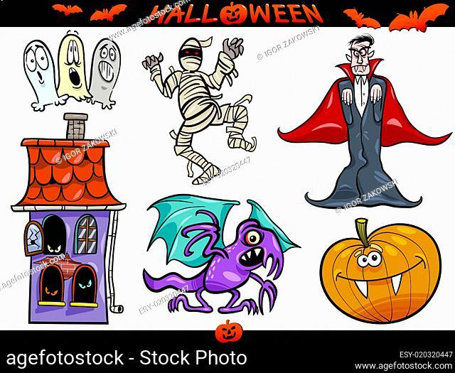 Halloween Cartoon Themes Set