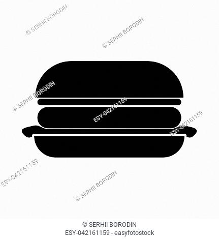 Burger it is black icon . Flat style