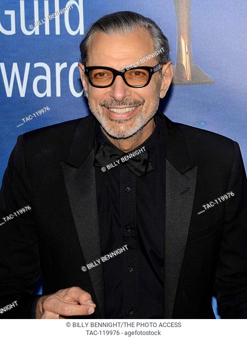 Jeff Goldblum attend the 2017 Writers Guild Awards L.A. Ceremony at The Beverly Hilton Hotel in Beverly Hills, California on February 19, 2017