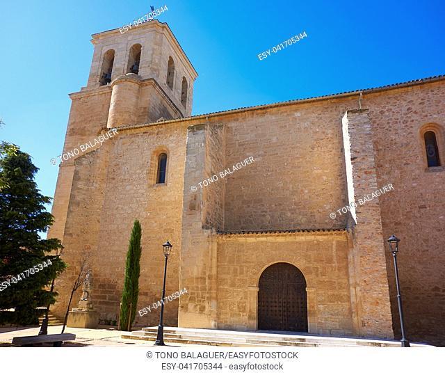 Las Pedroneras church in Cuenca at Castile La Mancha of Spain in Saint James Way of Levante