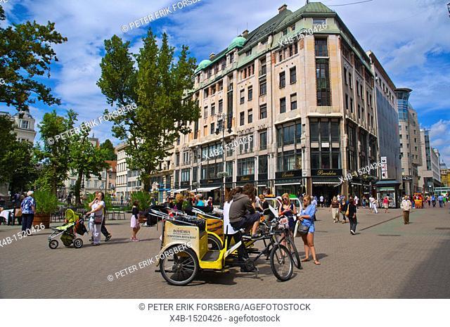 Vörösmarty ter square Belvaros central Budapest Hungary Europe