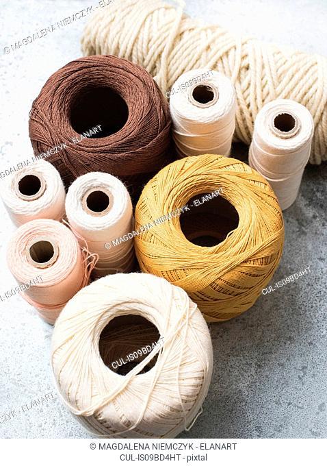 bobbin yarn spool stock photos and images age fotostock