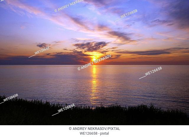 Sunset, Zmiinyi Island, Snake Island, Black Sea, Odessa, Ukraine, Eastern Europe